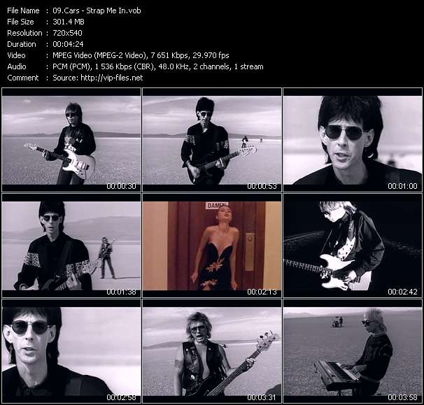 Screenshot of Music Video Cars - Strap Me In