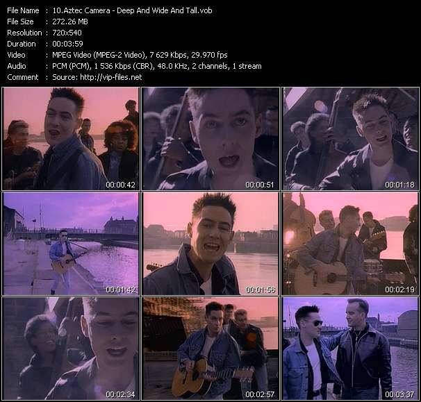 Screenshot of Music Video Aztec Camera - Deep And Wide And Tall