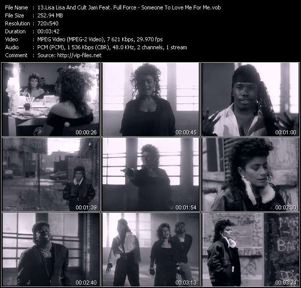 Screenshot of Music Video Lisa Lisa And Cult Jam Feat. Full Force - Someone To Love Me For Me