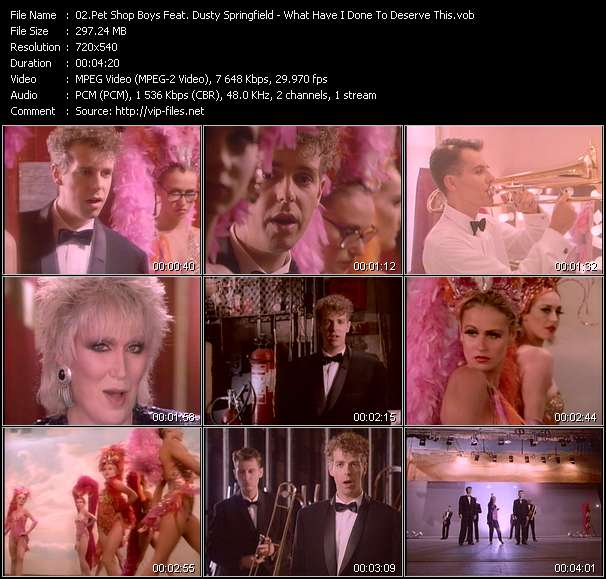 Screenshot of Music Video Pet Shop Boys Feat. Dusty Springfield - What Have I Done To Deserve This?