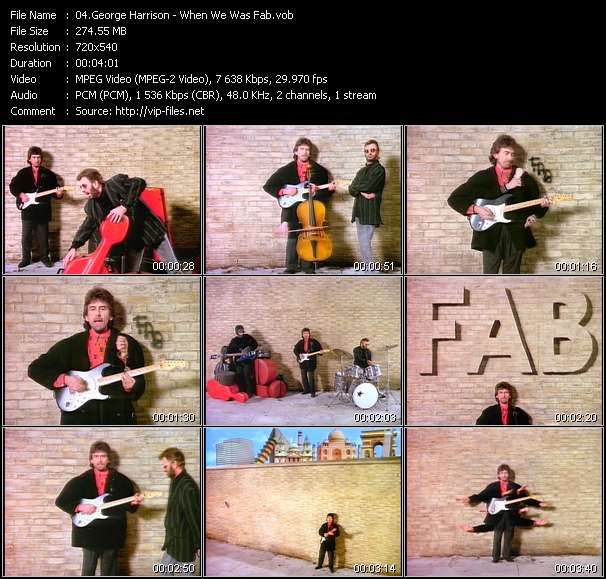 Screenshot of Music Video George Harrison - When We Was Fab