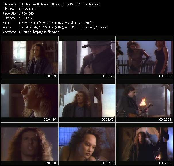 Screenshot of Music Video Michael Bolton - (Sittin' On) The Dock Of The Bay