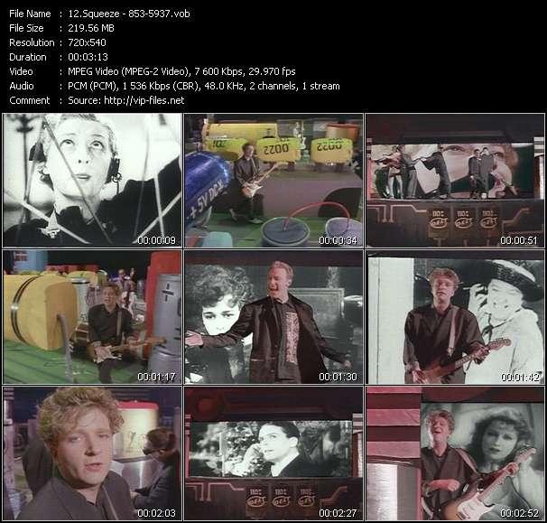 Screenshot of Music Video Squeeze - 853-5937