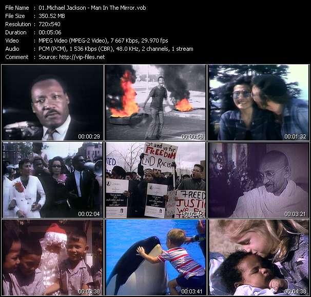 Screenshot of Music Video Michael Jackson - Man In The Mirror