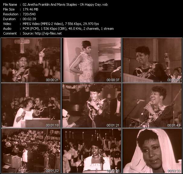Screenshot of Music Video Aretha Franklin And Mavis Staples - Oh Happy Day