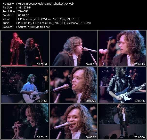 Screenshot of Music Video John Cougar Mellencamp - Check It Out