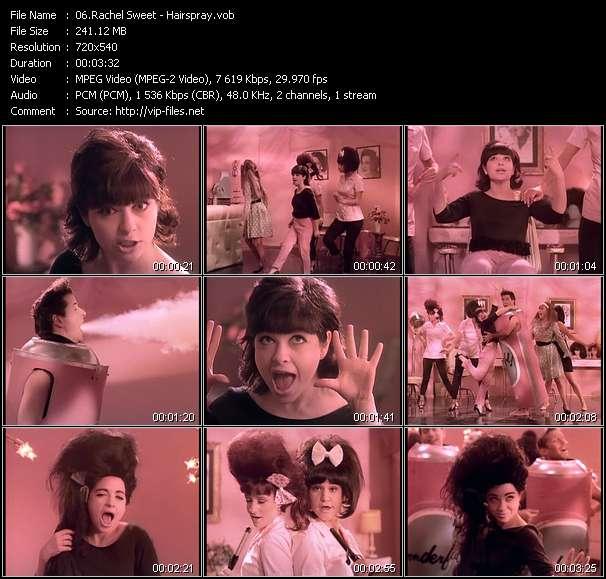 Screenshot of Music Video Rachel Sweet - Hairspray