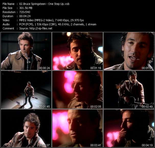 Screenshot of Music Video Bruce Springsteen - One Step Up