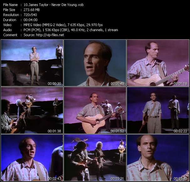 James Taylor video vob