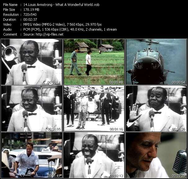 Louis Armstrong video vob