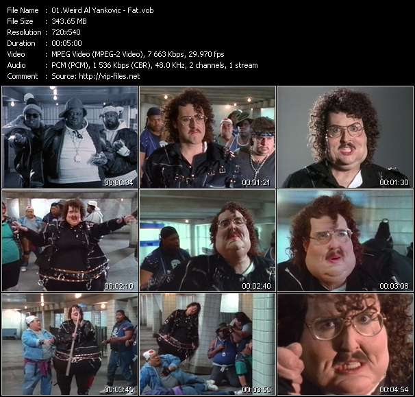 Screenshot of Music Video Weird Al Yankovic - Fat