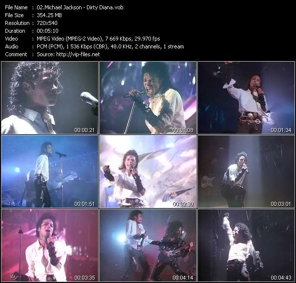 Screenshot of Music Video Michael Jackson - Dirty Diana