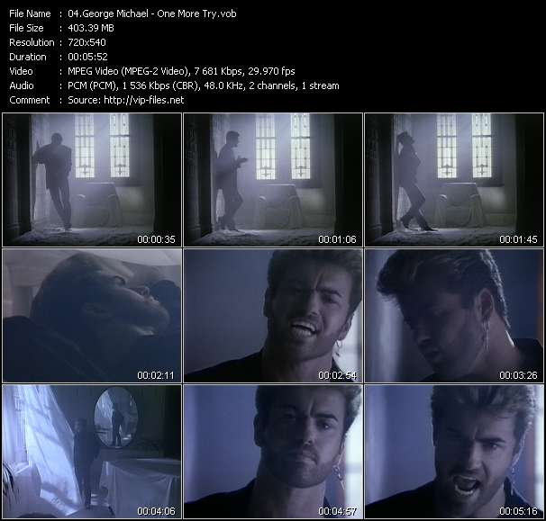 Screenshot of Music Video George Michael - One More Try