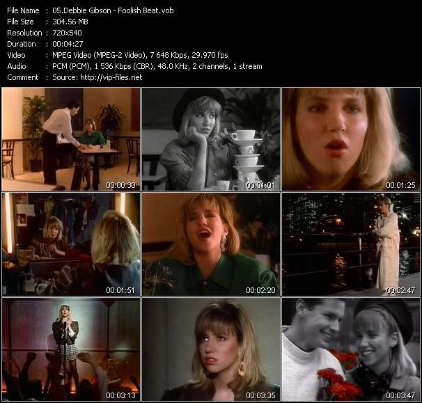 Screenshot of Music Video Debbie Gibson - Foolish Beat