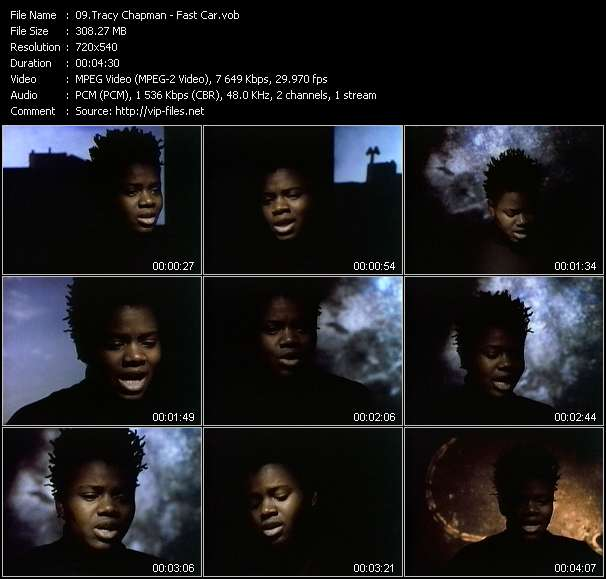 Screenshot of Music Video Tracy Chapman - Fast Car