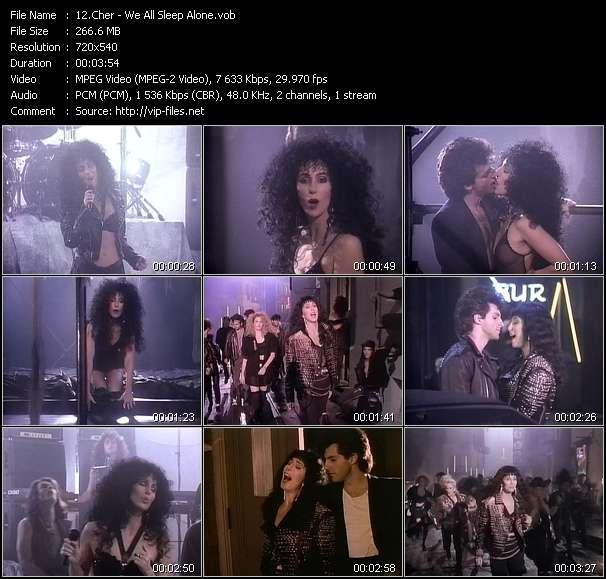 Screenshot of Music Video Cher - We All Sleep Alone
