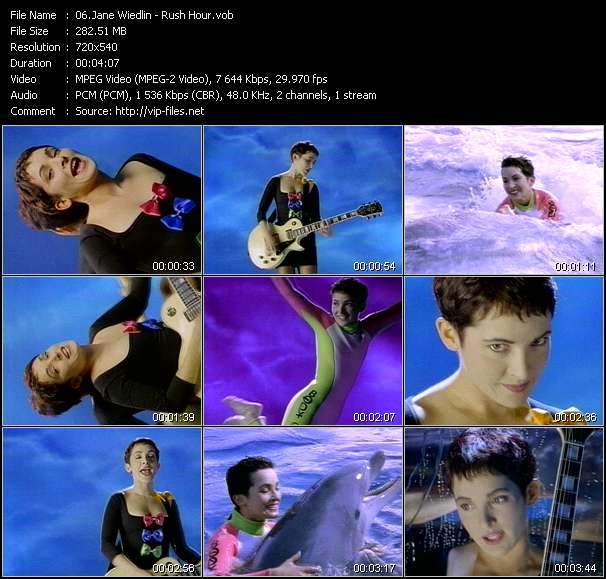 Screenshot of Music Video Jane Wiedlin - Rush Hour