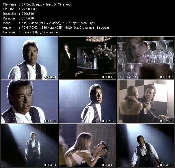 Screenshot of Music Video Boz Scaggs - Heart Of Mine