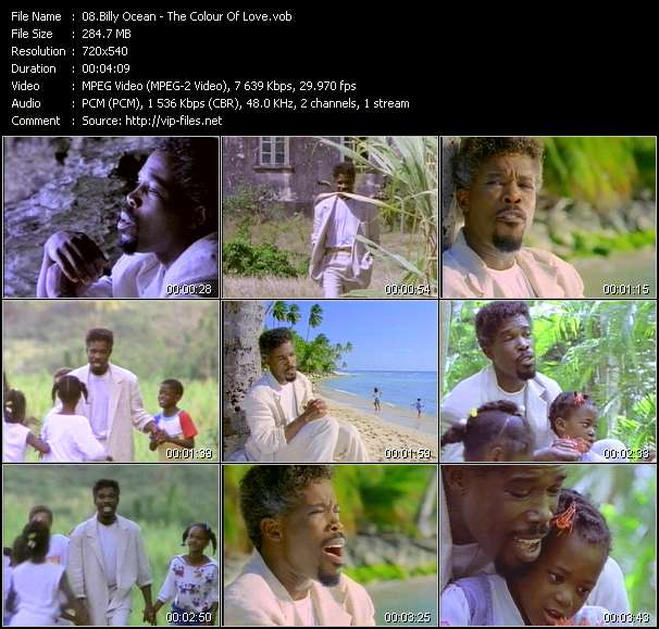 Screenshot of Music Video Billy Ocean - The Colour Of Love