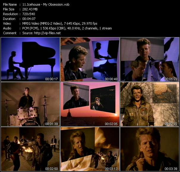 Screenshot of Music Video Icehouse - My Obsession