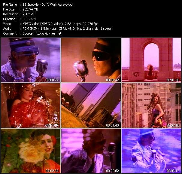 Screenshot of Music Video Spookie - Don't Walk Away