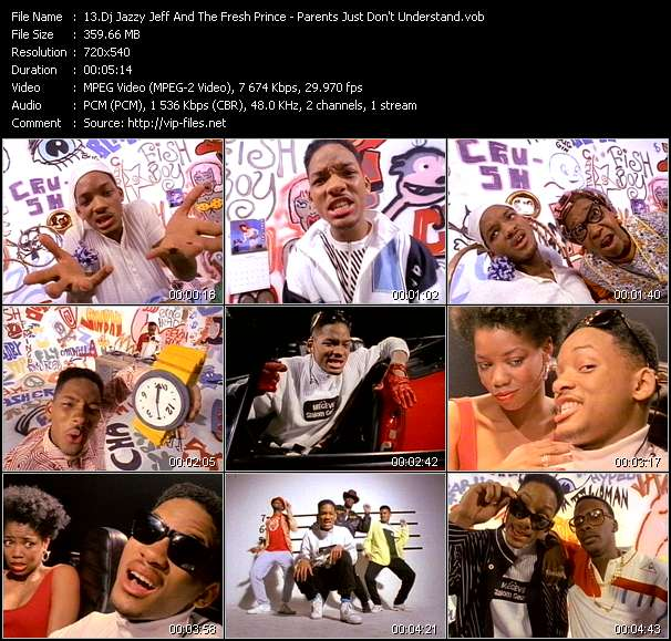 Screenshot of Music Video Dj Jazzy Jeff And The Fresh Prince - Parents Just Don't Understand