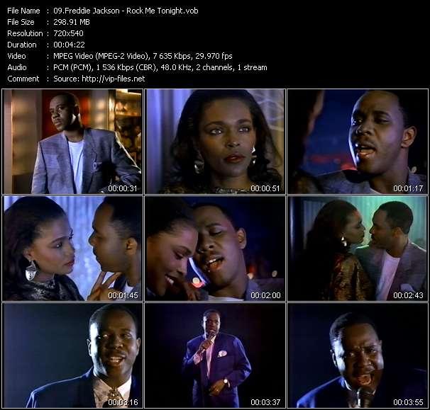 Screenshot of Music Video Freddie Jackson - Rock Me Tonight