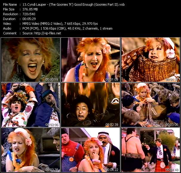 Cyndi Lauper video vob