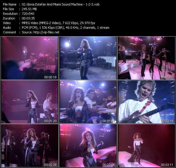 Screenshot of Music Video Gloria Estefan And Miami Sound Machine - 1-2-3