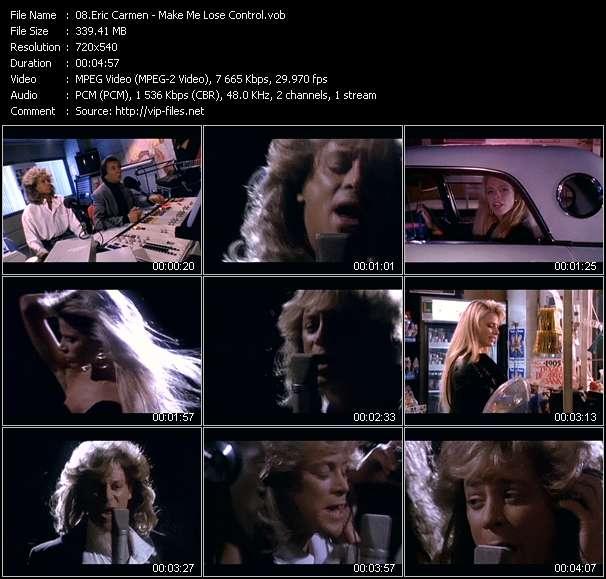 Screenshot of Music Video Eric Carmen - Make Me Lose Control