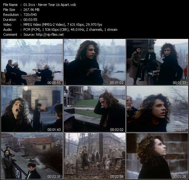 Screenshot of Music Video Inxs - Never Tear Us Apart