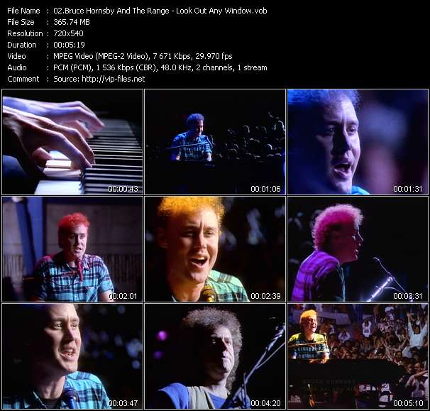 Screenshot of Music Video Bruce Hornsby And The Range - Look Out Any Window