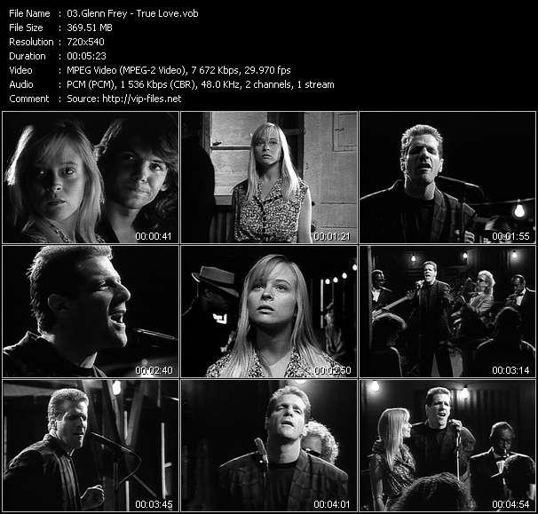 Screenshot of Music Video Glenn Frey - True Love