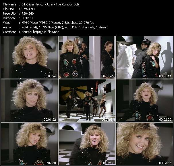 Screenshot of Music Video Olivia Newton-John - The Rumour