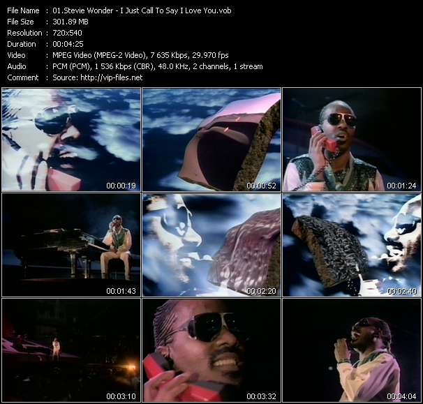 Stevie Wonder video vob