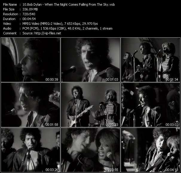 Screenshot of Music Video Bob Dylan - When The Night Comes Falling From The Sky