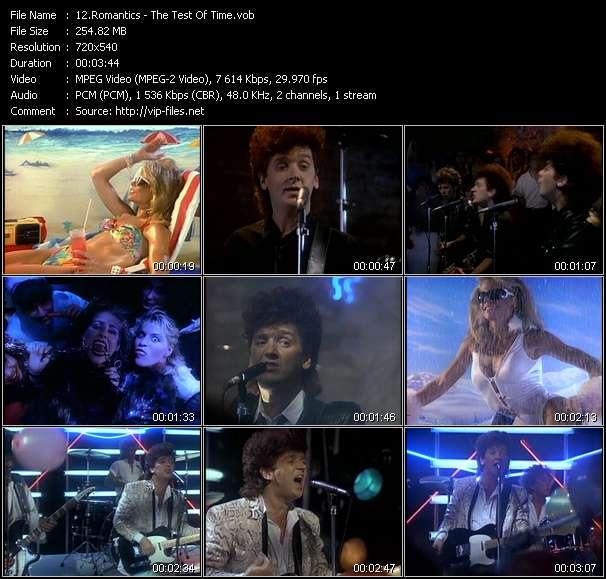 Screenshot of Music Video Romantics - The Test Of Time