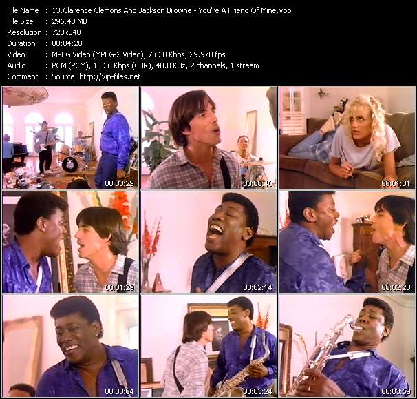 Clarence Clemons And Jackson Browne video vob