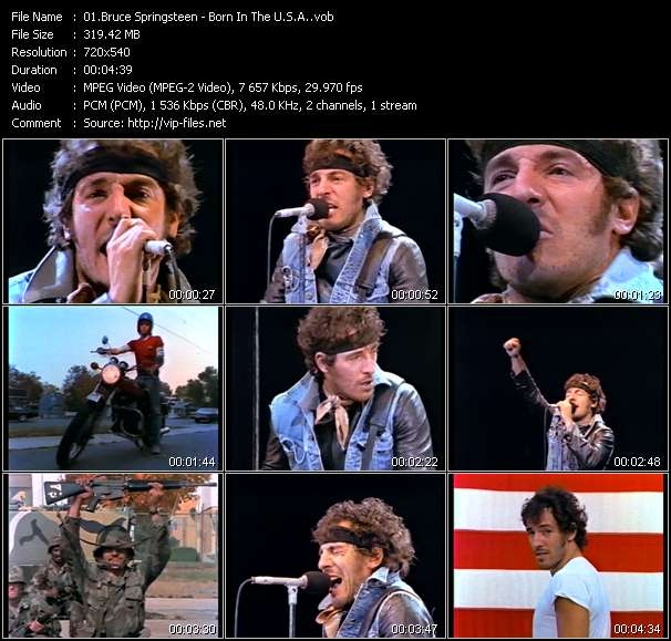 Screenshot of Music Video Bruce Springsteen - Born In The U.S.A.