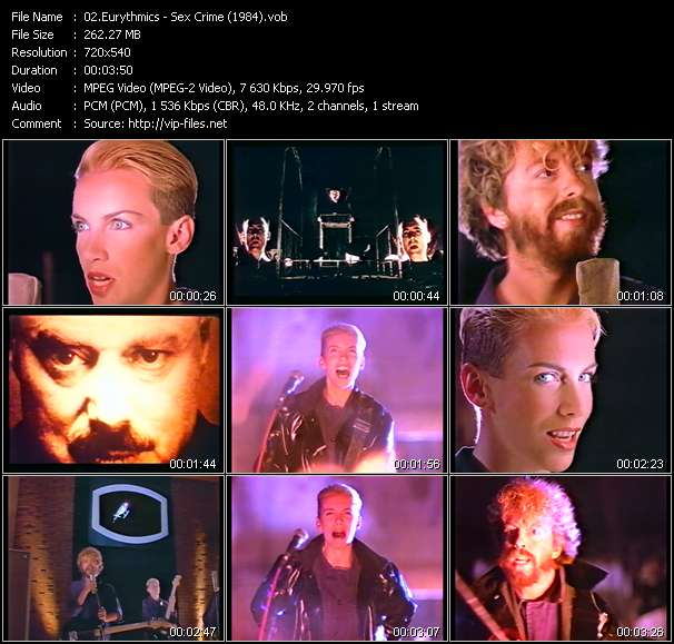 Screenshot of Music Video Eurythmics - Sex Crime (1984)