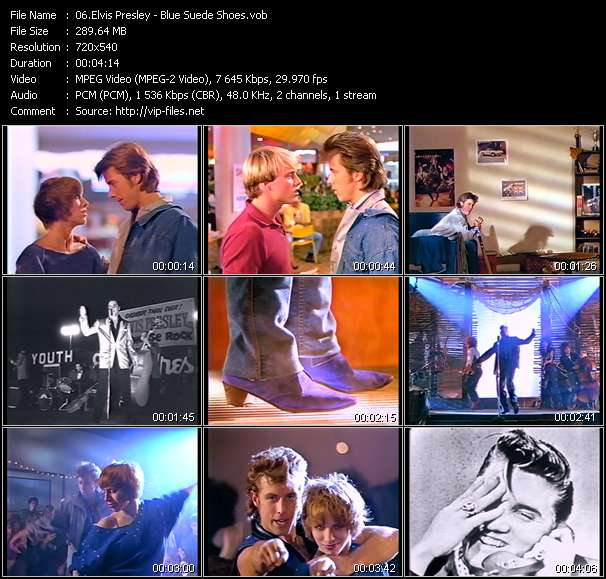 Screenshot of Music Video Elvis Presley - Blue Suede Shoes