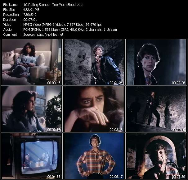 Screenshot of Music Video Rolling Stones - Too Much Blood