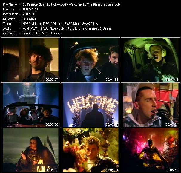 Screenshot of Music Video Frankie Goes To Hollywood - Welcome To The Pleasuredome