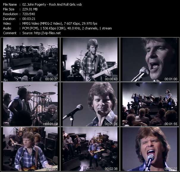 Screenshot of Music Video John Fogerty - Rock And Roll Girls