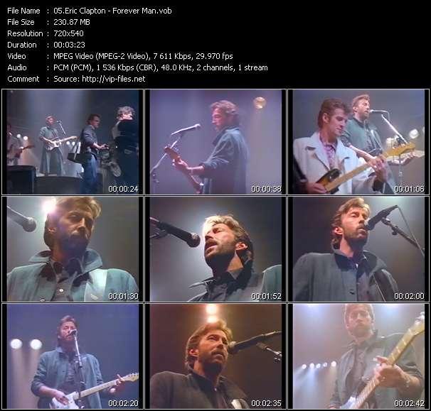Screenshot of Music Video Eric Clapton - Forever Man