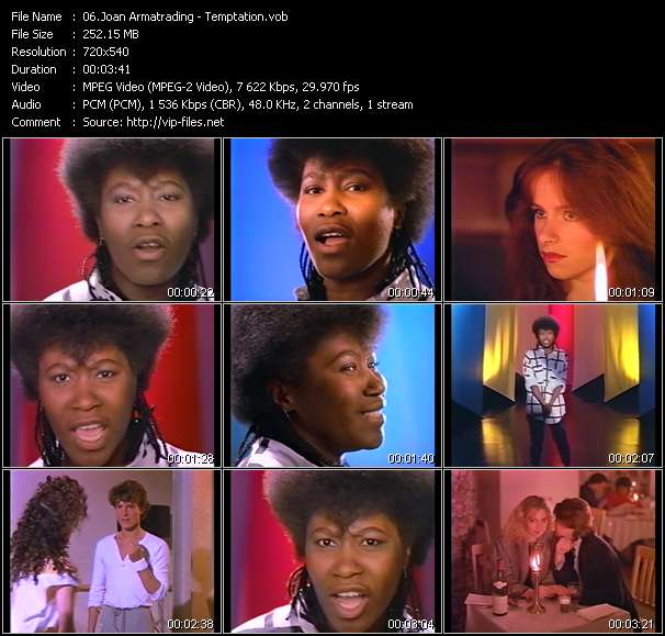 Screenshot of Music Video Joan Armatrading - Temptation