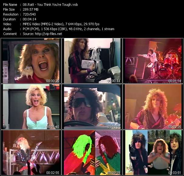 Screenshot of Music Video Ratt - You Think You're Tough