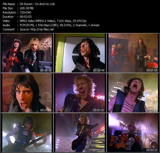 Screenshot of Music Video Raven - On And On