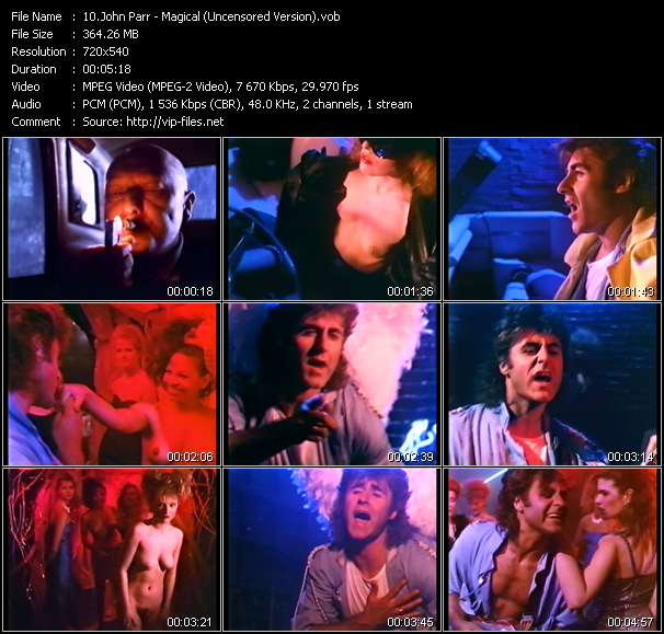 Screenshot of Music Video John Parr - Magical (Uncensored Version)