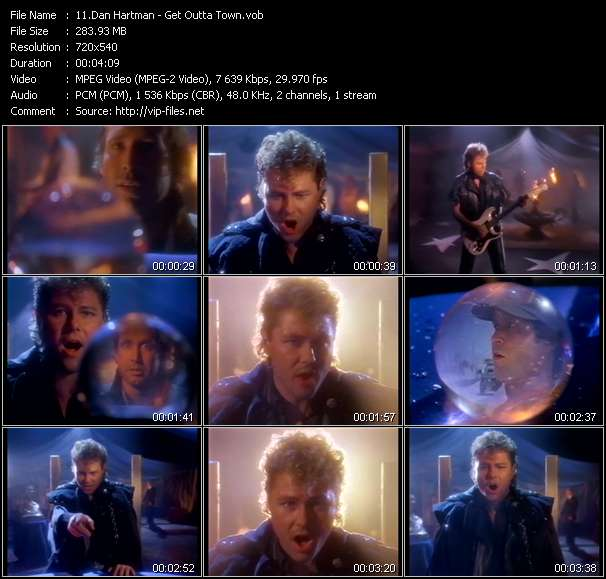 Screenshot of Music Video Dan Hartman - Get Outta Town